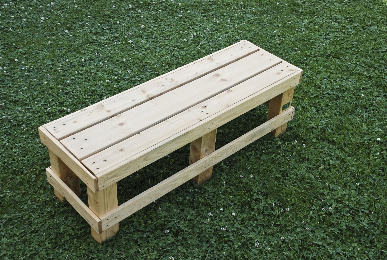 Sedie per il giardino mobili in pallet for Panca pallets