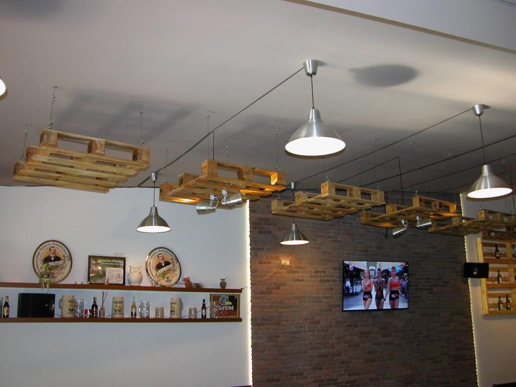 Lampadari in pallet