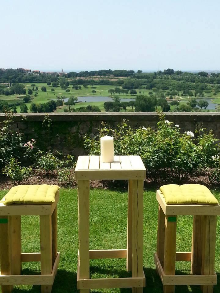 Sedie per il giardino mobili in pallet - Mobili giardino ...