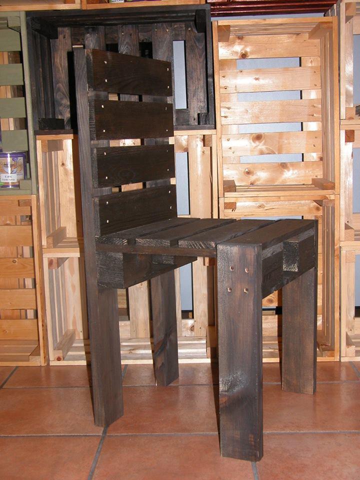 Sedia in pallet wengè COD. SED01