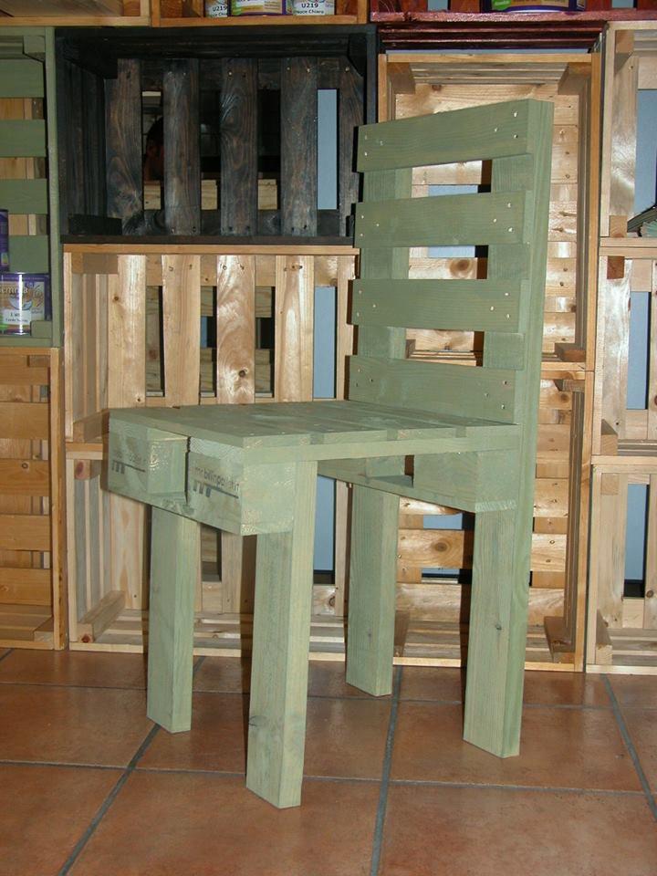 Sedia in pallet verde COD. SED01
