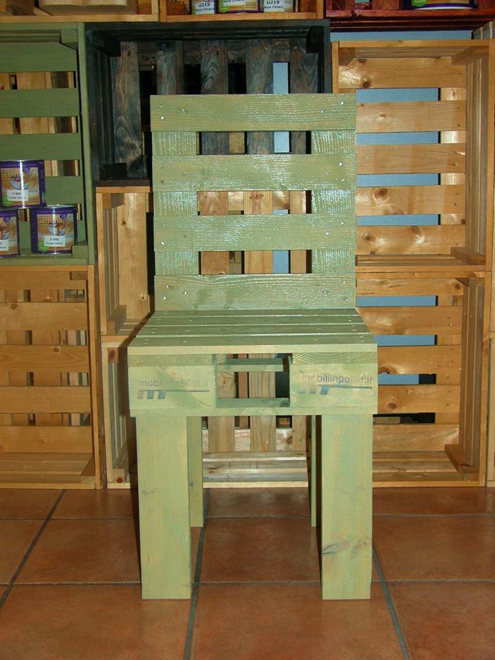 Sedia con pallet verde COD. SED01