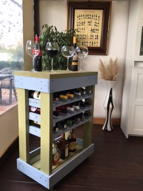 Carrello porta bottiglie con pallet bicolore COD. ARR10