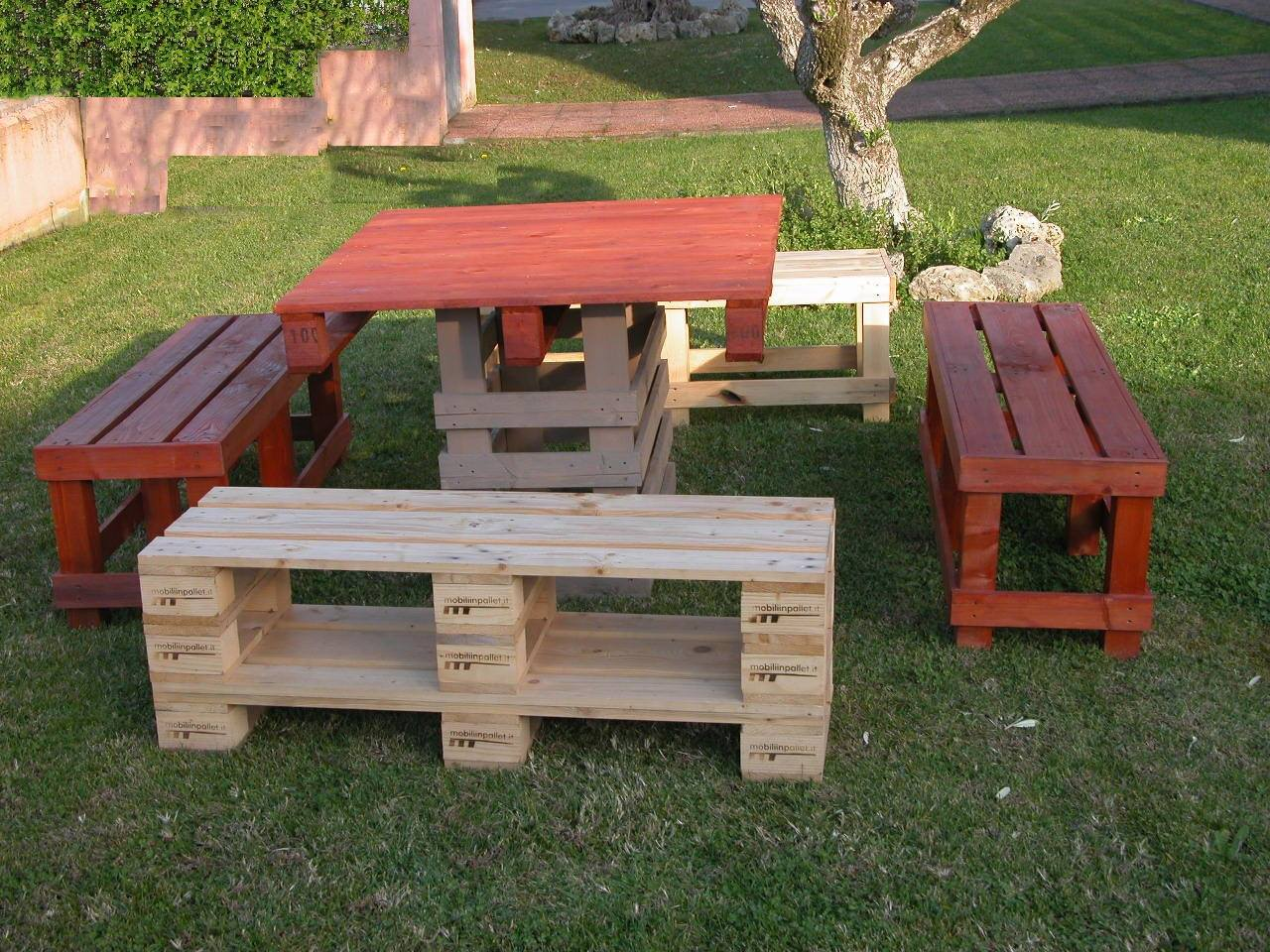 Panche in pallet