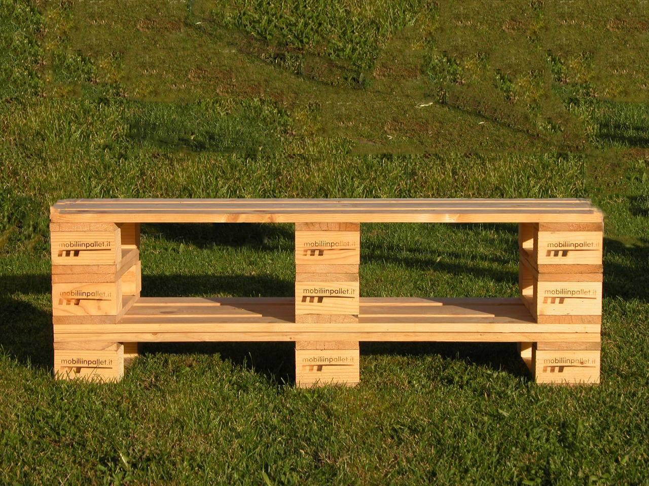 Sedie per il giardino mobili in pallet - Mobili con bancali in legno ...