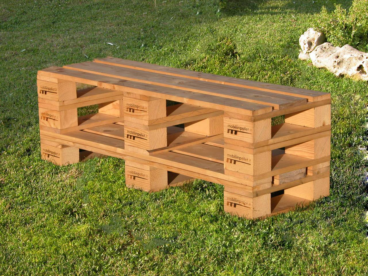 Sedie mobili in pallet for Panca pallets