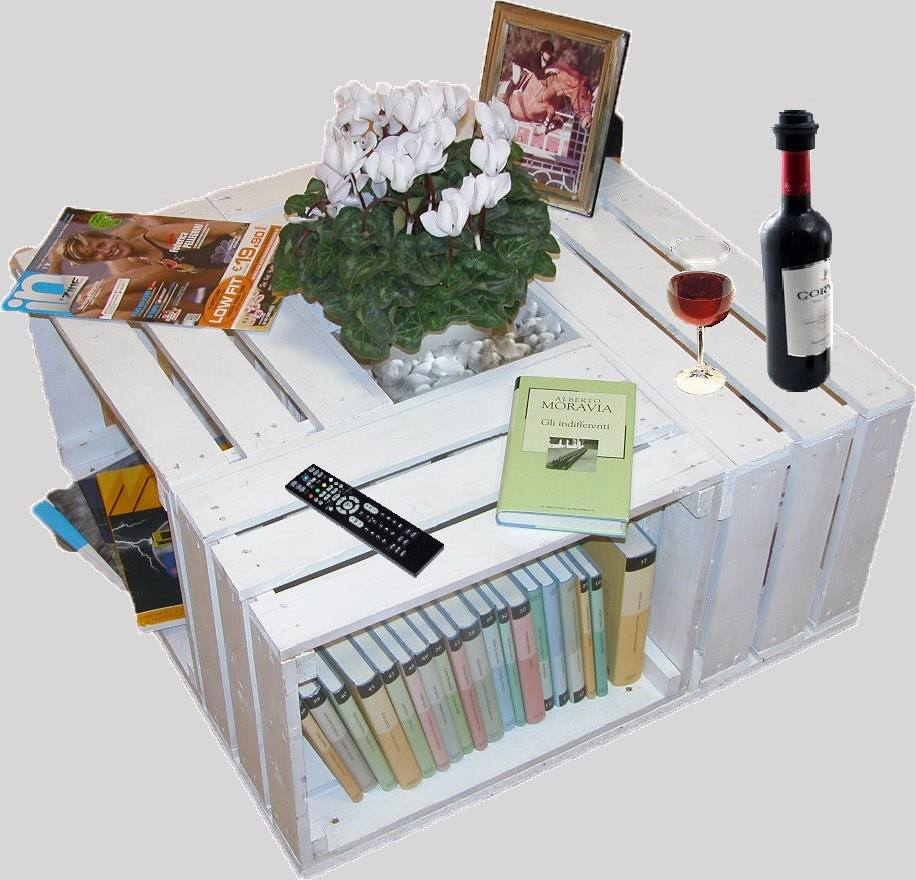 Tavolino con cassette in pallet COD. TAV06