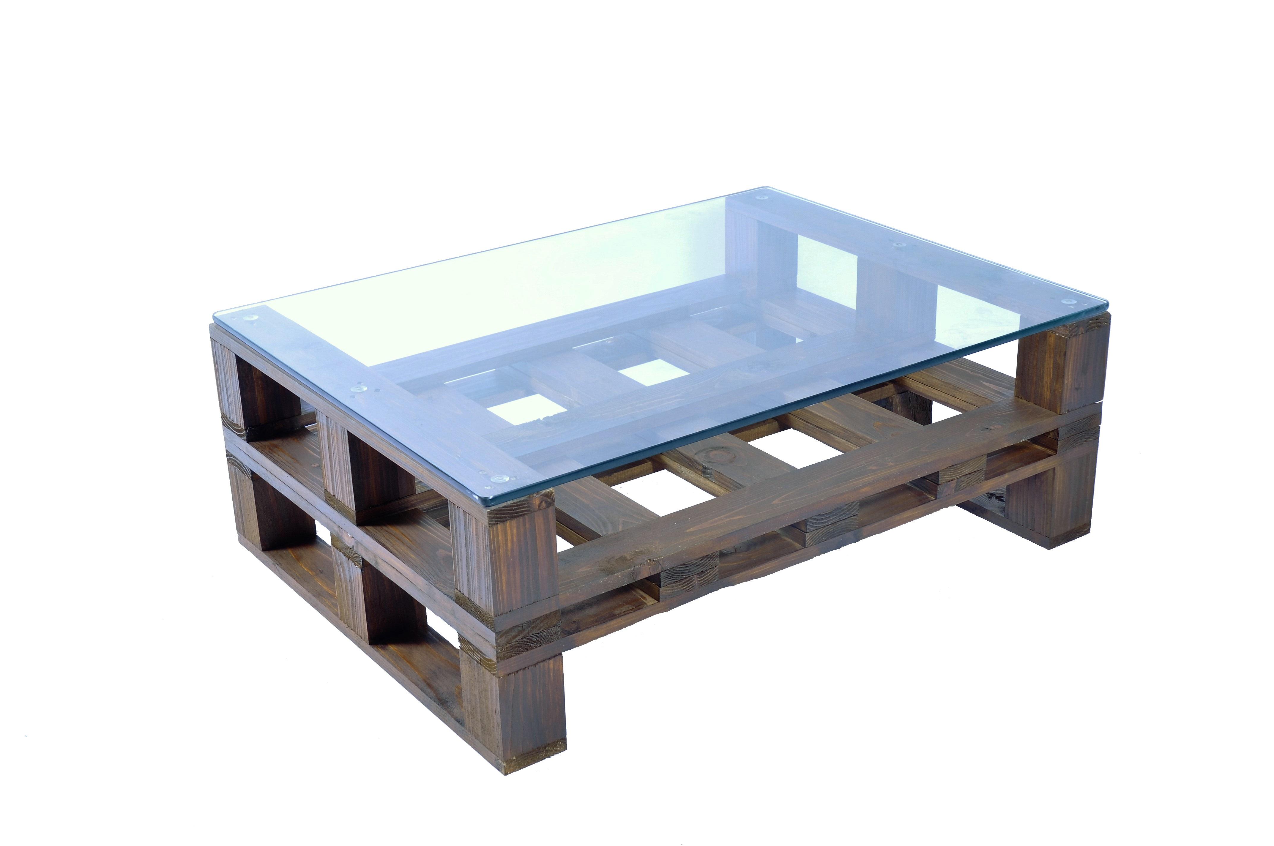 Ripiano In Vetro Per Tavolo.Tavolino Basso Con Ripiano In Vetro2 Mobili In Pallet