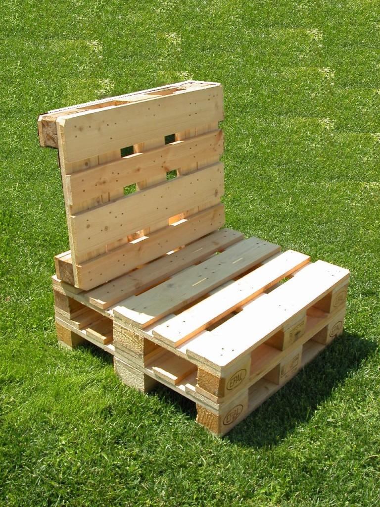 Sedie per il giardino mobili in pallet - Giardino pallet ...