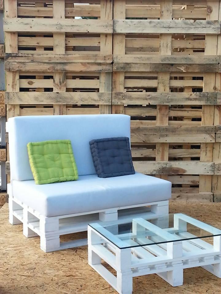 come realizzare un divano con i pallet mobili in pallet