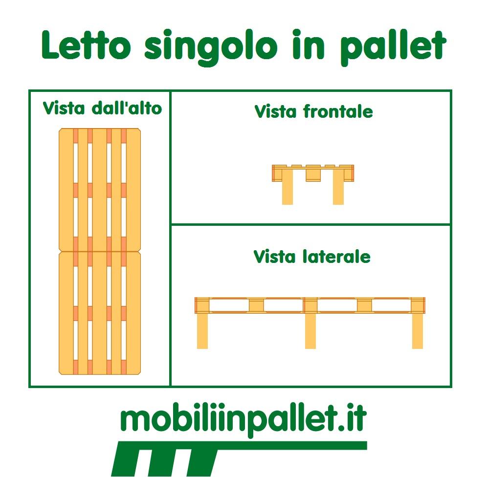 Come costruire un letto in pallet archivi mobili in pallet - Letto singolo pallet ...